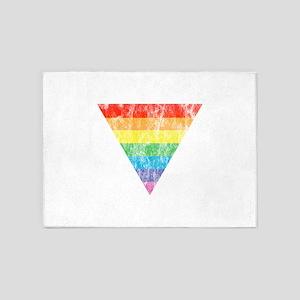 rainbow triangle 5'x7'Area Rug