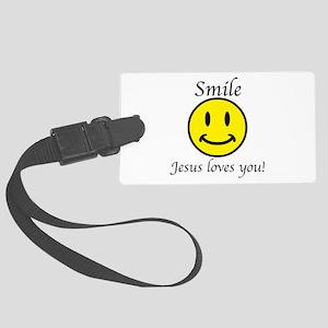 Smile Jesus Large Luggage Tag