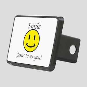 Smile Jesus Rectangular Hitch Cover