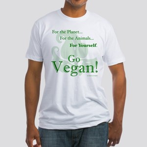 Go Vegan! Fitted T-Shirt