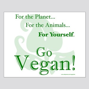 Go Vegan! Small Poster