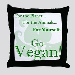Go Vegan! Throw Pillow