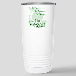 Go Vegan! Stainless Steel Travel Mug