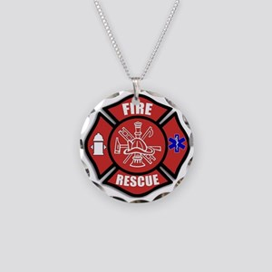 Fire Rescue Necklace Circle Charm