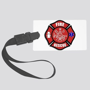 Fire Rescue Large Luggage Tag