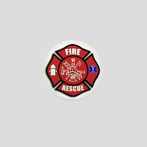 Fire Rescue Mini Button
