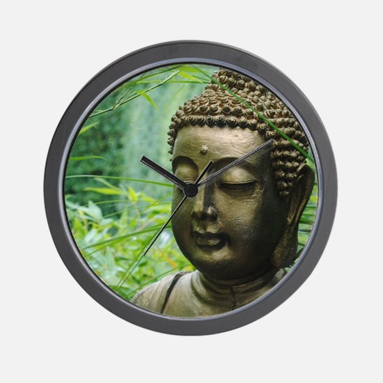 Buddha in the Forest Wall Clock