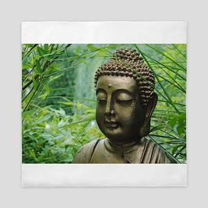 Buddha in the Forest Queen Duvet