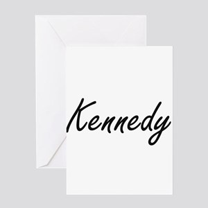 Kennedy surname artistic design Greeting Cards
