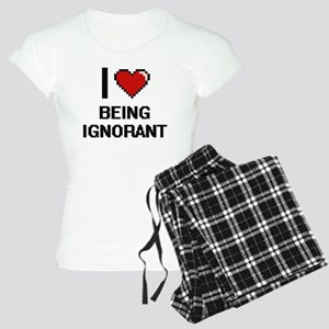 I Love Being Ignorant Digit Women's Light Pajamas