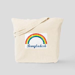 Bangladesh (vintage rainbow) Tote Bag