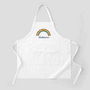 Baltimore (vintage rainbow) BBQ Apron