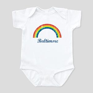 Baltimore (vintage rainbow) Infant Bodysuit