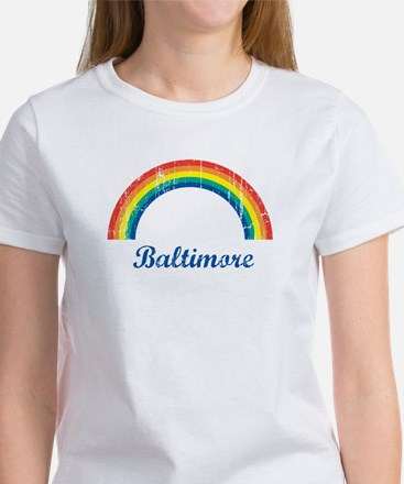 Baltimore (vintage rainbow) Women's T-Shirt