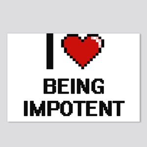 I Love Being Impotent Dig Postcards (Package of 8)