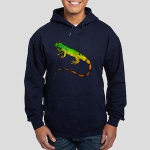 Green Iguana Hoodie (dark)