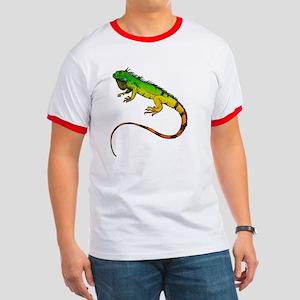 Green Iguana Ringer T