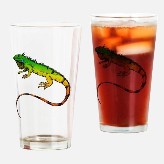 Green Iguana Drinking Glass