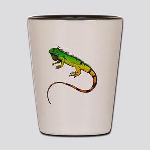 Green Iguana Shot Glass