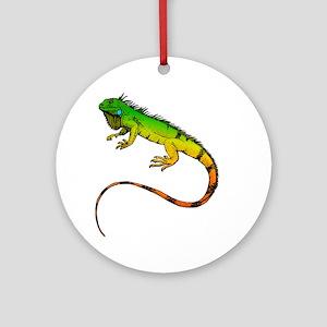 Green Iguana Ornament (Round)