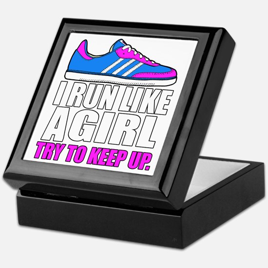 Run Like A Girl  Keepsake Box