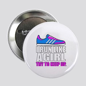 "Run Like A Girl  2.25"" Button"