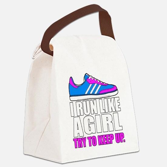Run Like A Girl  Canvas Lunch Bag