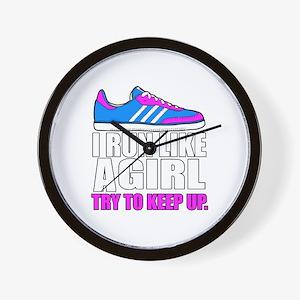Run Like A Girl  Wall Clock