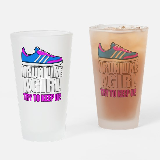 Run Like A Girl  Drinking Glass