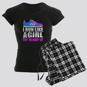 Run Like A Girl  Women's Dark Pajamas