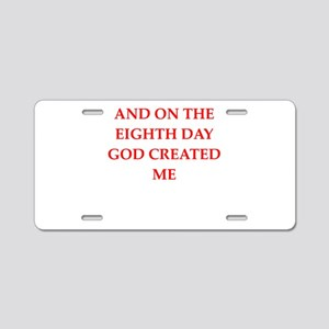 god Aluminum License Plate