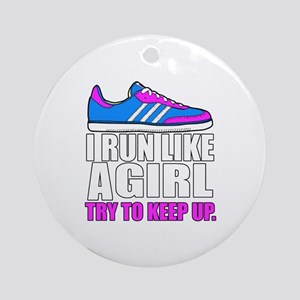 Run Like A Girl  Round Ornament