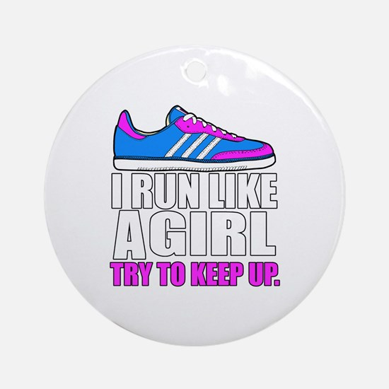 Run Like A Girl  Round Ornament