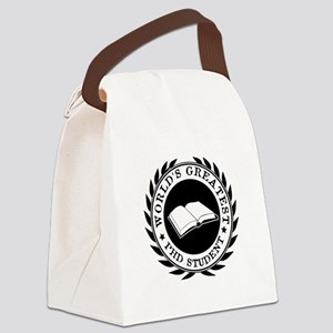 World's Greatest pHD student Canvas Lunch Bag