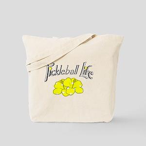 Pickleball Life Pickleball Flower Tote Bag