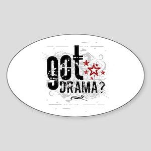 Got Drama Oval Sticker