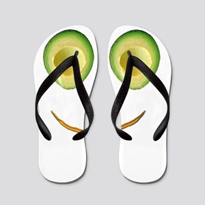 Cute Avocado Face Rieko's Fave Flip Flops