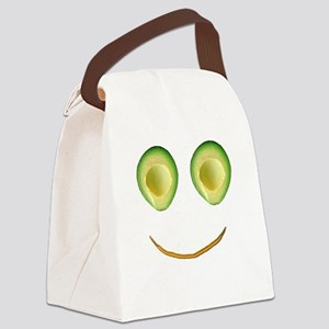 Cute Avocado Face Rieko's Fave Canvas Lunch Bag