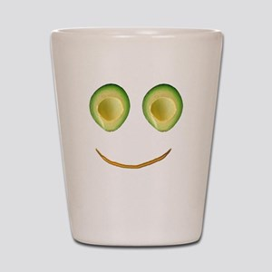 Cute Avocado Face Rieko's Fave Shot Glass