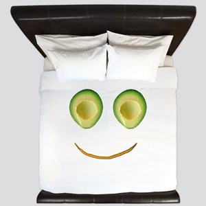 Cute Avocado Face Rieko's Fave King Duvet