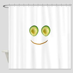 Cute Avocado Face Rieko's Fave Shower Curtain