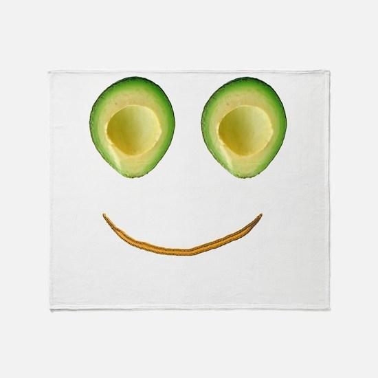 Cute Avocado Face Rieko's Fave Throw Blanket