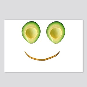 Cute Avocado Face Rieko's Postcards (Package of 8)