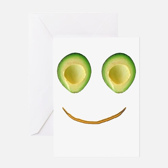 Cute Avocado Face Rieko's Fave Greeting Cards