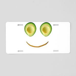 Cute Avocado Face Rieko's F Aluminum License Plate