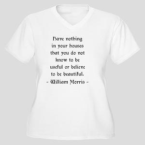 William Morris Qu Women's Plus Size V-Neck T-Shirt