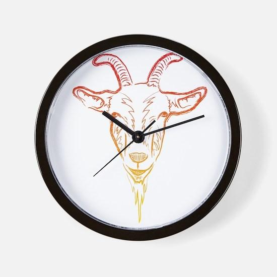 sunrise goat Wall Clock