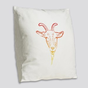 sunrise goat Burlap Throw Pillow