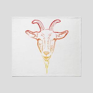 sunrise goat Throw Blanket