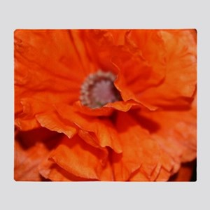 Orange Poppy Throw Blanket